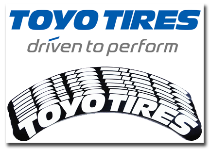 Toyo Tires Tire Stickers White And Black Tire Stickers