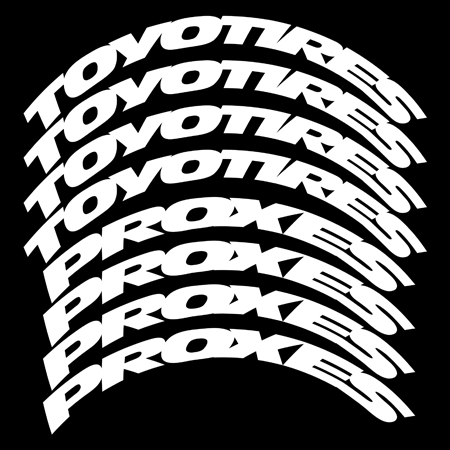 Toyo Tires White Letters >> Ken Block – Toyo Tires Proxes Stretched Design – Tire ...