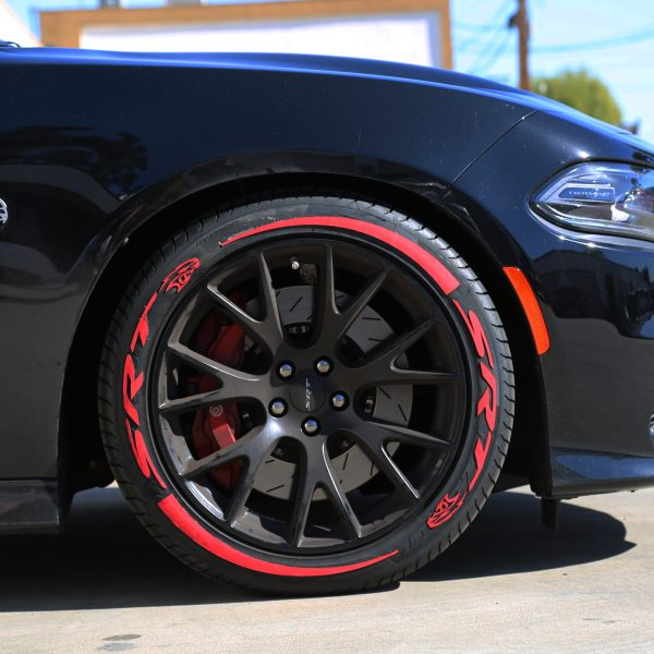 tires with red lettering dodge mopar srt tire stickers canada 14061 | SRT Camaro Hellcat srt Hell Cat with Red Tire Stickers Chevy 600x600