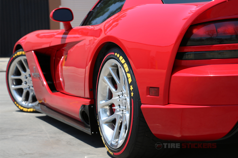 Tire Graphics Formula 1 Style Stripes Only Tire